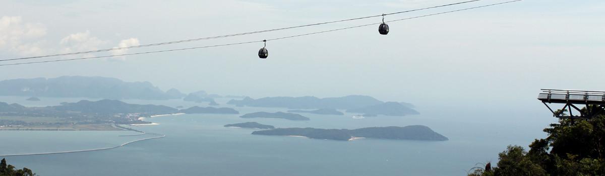 Cable Car, la atracción turística en Langkawi (Malasia)