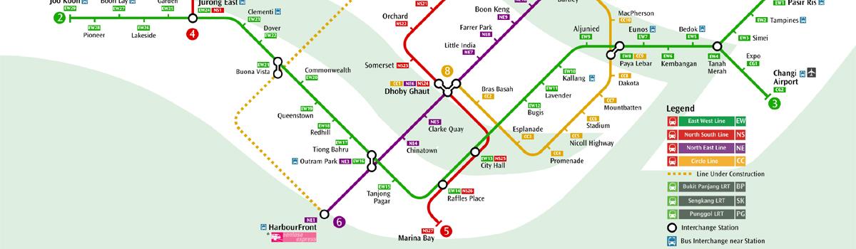 viajar en el metro de singapur