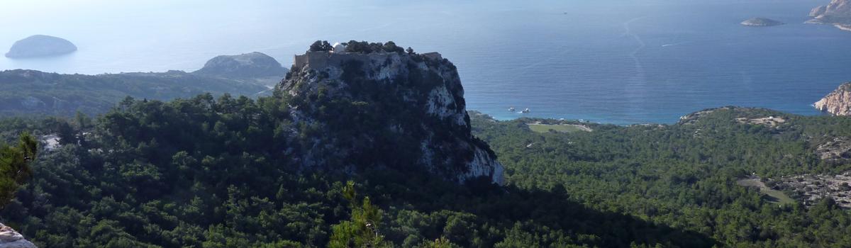 Castillo de Monolithos en la isla de Rodas (Grecia)