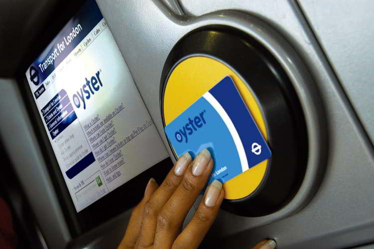 Máquina para recargar una London Oyster Card